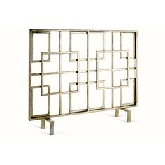 Silver Squares Iron Firescreen by Dessau Home - Dessau Home Antique Gold Oval Loop Firescreen Dessau HomeCategory: Fireplace AccessoriesMaterial: IronFinish: SilverType: FireplaceStyle: TraditionalCountry of Manufacturer: ChinaDimensions: x x Gold Fireplace Screen, Art Deco Fireplace, Home Fireplace, Living Room With Fireplace, Fireplace Design, Fireplaces, Fireplace Tools, Fireplace Remodel, Fireplace Ideas