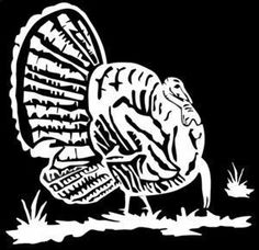 Turkey Decal MD #1 Outdoors Hunting Stickers - Wildlife Decal #turkeyhuntingstickers #turkeyhuntingdecor