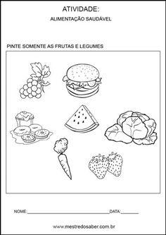 Projeto alimentação saudável educação infantil - Pinte