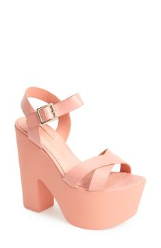 Launch into some serious spring style with these coral Topshop platform sandals.