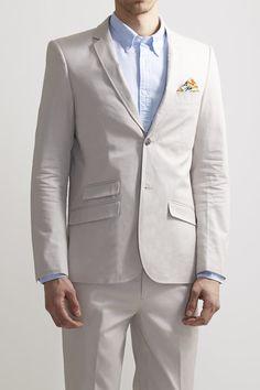Slim Floral Trim Blazer - EDGE by WD.NY - Blazers & Vests : JackThreads