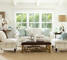 pottery barn coastal room