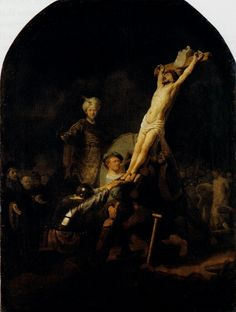 The Elevation Of The Cross, 1633  Rembrandt