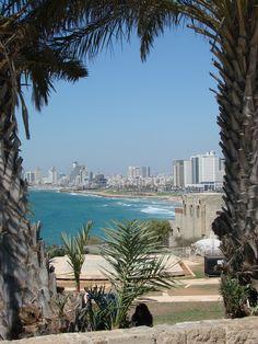 Coastline of Tel Aviv, Israel. Jaffa Israel, Israel Palestine, Inverness, Beautiful Places In The World, Wonderful Places, Places To Travel, Places To See, Tel Aviv Beach, Monuments