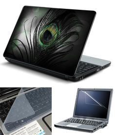 Black Feather With Screen Guard and Keyboard Protector
