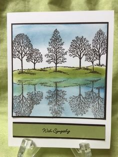 At this weekend's card class, we made cards using the reflection technique. The technique lends it self beautifully with nature cards. Thi...