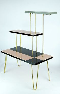 Mid Century plant stand with hairpin legs. Sold 10/2013 for $109 on Ebay