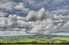 Clouds over Dunkery Exmoor by Mike Watson