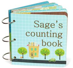 you also can make a counting book out of scrapbooking stuff @Scrapbook & Cards Today