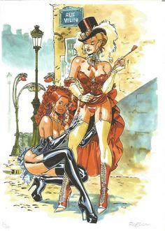 Meynet, F. - Erotische originele striptekening op groot ...