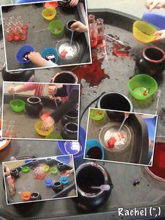 "Bicarbonate soda & coloured vinegar potions - from Rachel ("",)"