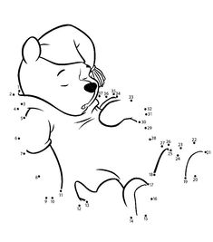 Winnie The Pooh Connect The Dots Activity Page