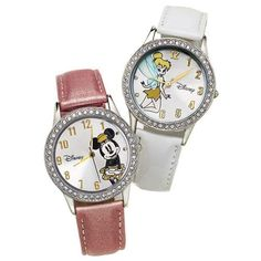 Disney Sparkle Watch featuring Minnie Mouse or Tinkerbell. A watch any Disney loving tween (or grownup) would want.