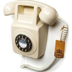 GPO 746 Wallphone - Ivory Replica, Vintage & Decorative Telephones