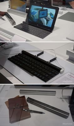 LG's collapsible Rolly Keyboard furls into an easily-transportable stick