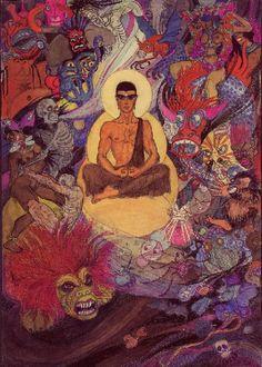 Jeanne Mammen, 1890-1976, Die Versuchung des Buddha, 1st version