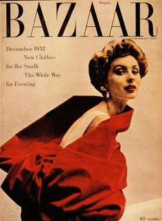 HARPER'S BAZAAR.1952DEC. RICHARD AVEDON-PHOTO Richard Avedon Photos, Harpers Bazaar, Movie Posters, Film Poster, Billboard, Film Posters