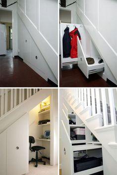 30 Modern Hallway Under Stairs With Storage Ideas