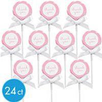 Light Pink Lollipop Kit 24ct  SKU: 446535  $9.99.  has stickers, ribbons, etc.