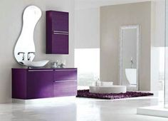 Violet bathroom