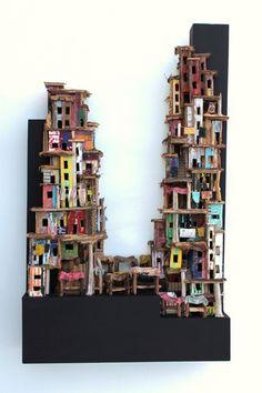 marktdag van Eric Cremers | Maktdag is een variatie op het eerdere werk 'Slum market' maar verschilt in vele onderdelen en opbouw van dit eerdere werk.
