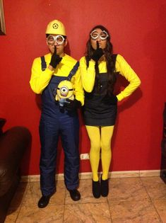 10 Super-creative Halloween Costumes for Couples   A-Weddings Blog & Last-Minute Gru and Sexy Minion Couple Costume   Pinterest ...