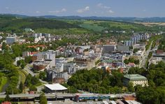 Zlín (Czech pronunciation: [zliːn]; German: Zlin) is a city in the Zlín Region, southeastern Moravia, Czech Republic, on the Dřevnice River. The development of the modern city is closely connected to the Bata Shoes company and its social scheme, developed after the First World War.