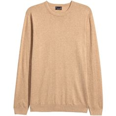 Premium cotton jumper $44.99 (€38) via Polyvore featuring tops, sweaters, beige sweater, long sleeve cotton tops, ribbed top, jumpers sweaters and beige top