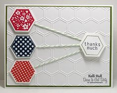 by KelliJo - Cards and Paper Crafts at Splitcoaststampers Note Cards, Thank You Cards, Scrapbook Cards, Scrapbooking, Hexagon Cards, Stamping Up Cards, Paper Cards, Kids Cards, Homemade Cards