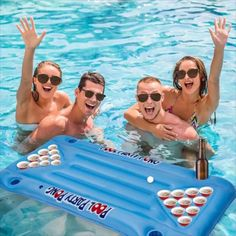 Take your pool party to the next level and bring the pong to the pool! Enjoy a fun game of Beer Pong outdoors with friends & family with this Inflatable Portable Beer Pong Pool Table Float. Pool Party Games, Pool Party Decorations, Pool Beer Pong, Adult Pool, Beer Table, Grad Parties, Pool Parties, Cool Pools, Summer Fun