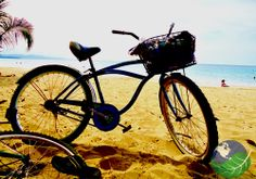 Riding bicycles in Costa Rica. The best place for relaxing bicycles rides in Costa Rica with plenty of wildlife spotting is a 13 kilometer section of flat paved road between the the small Caribbean beach towns of Puerto Viejo de Talamanca and Manzanillo.