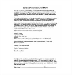 Formal complaint form pinterest landlord letter to tenant regarding repairs spiritdancerdesigns Image collections