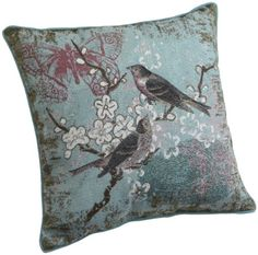 Pretty Blue Pillows for the Couch Blue Bird