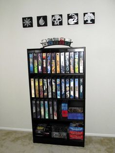 Beautiful Magic the Gathering card storage.