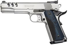S&W 1911 PC Stainless/Blue Wood
