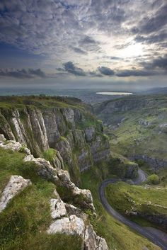 Cheddar Gorge in Somerset, UK It was named as the second greatest natural wonder in Britain surpassed only by Dan yr Ogof caves