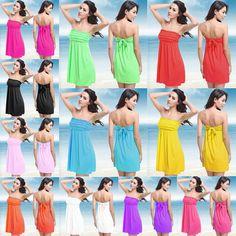 Fashion sey beach skirt petals wrapped chest back lace skirt 11 colour seaside beach shirt #Woman_Beach, #Seaside