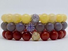 Pulsera Àgata,piedra preciosa natural,pulsera de piedras preciosas hecha a mano,joyas de piedras preciosas,joyería hecha a mano,joyas,regalo de DeMaiCreaciones en Etsy