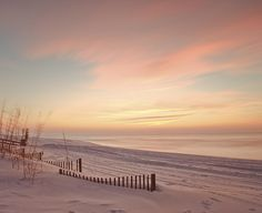 Lonely Beach at Sunset ....