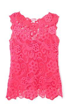 Sleeveless Lace Blouse by Oscar de la Renta - Moda Operandi