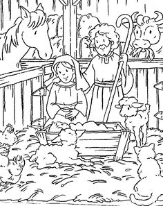Lots of great Christian Christmas printable coloring pages and activities. Great for church!