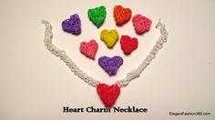Rainbow Loom Heart Charm Necklace - How to