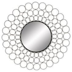 38 in. Circles Metal Wall Mirror,$93.00.    Will most likely check out the craft stores for materials to DIY.    Any ideas or suggestions?