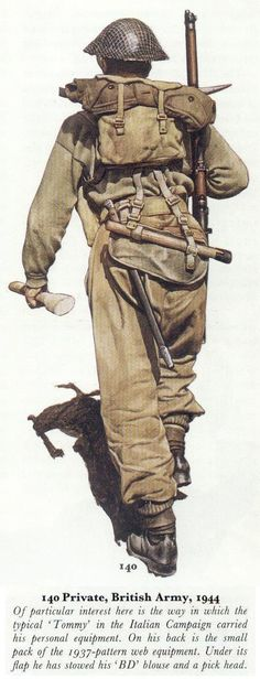 BRITISH ARMY - Private, Italy, 1944