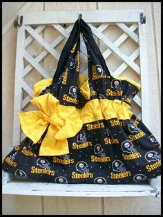 PITTSBURGH STEELERS purse with RHINESTONES - Other teams available. $25.00, via Etsy.