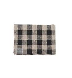Fog Linen Black Natural Thick Linen Kitchen Cloth