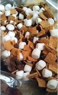 S'Mores mix- cowboy party for mason jars