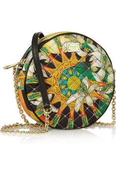 Dolce & Gabbana|quilted silk shoulder bag|another scarf print idea