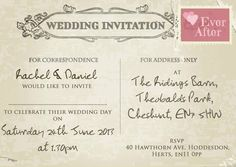 101 Best Shabby Chic Vintage Postcard Wedding Invitations Images