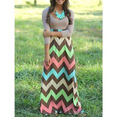 Color-block Scoop Neck Zigzag Maxi Dress (19 AUD) ❤ liked on Polyvore featuring dresses, multicolor, color block maxi dress, maxi party dresses, sheath dress, green maxi dress and color block dress